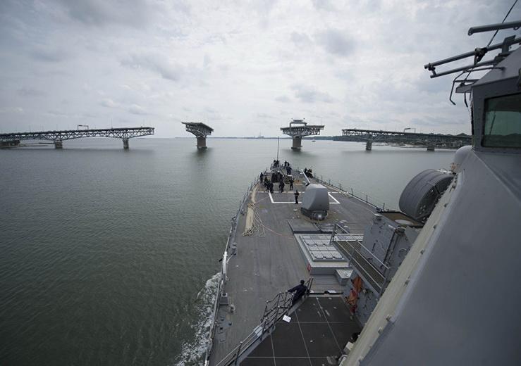 Эсминец ВМС США покинул акваторию Черного моря