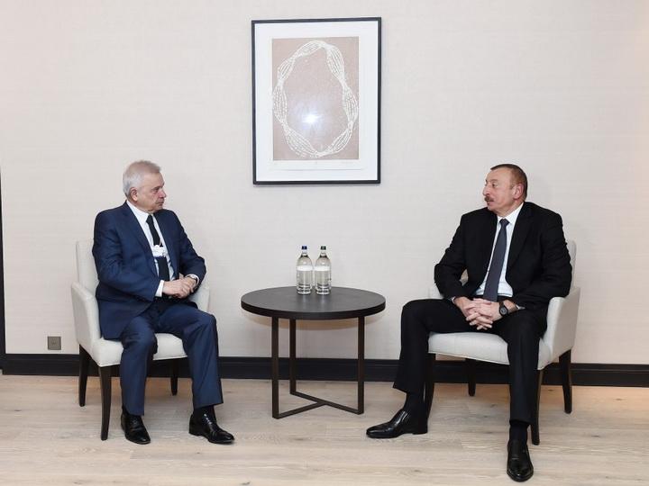 Президент Азербайджана встретился с президентом компании ЛУКОЙЛ — ФОТО
