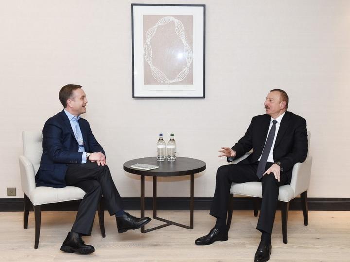 Президент Ильхам Алиев встретился с членом правления компании Mastercard — ФОТО