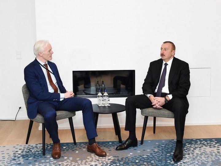 Президент Азербайджана встретился с вице-президентом компании Microsoft
