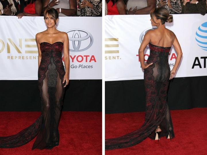 Холли Берри вышла накрасную дорожку впрозрачном платье безбелья – ФОТО