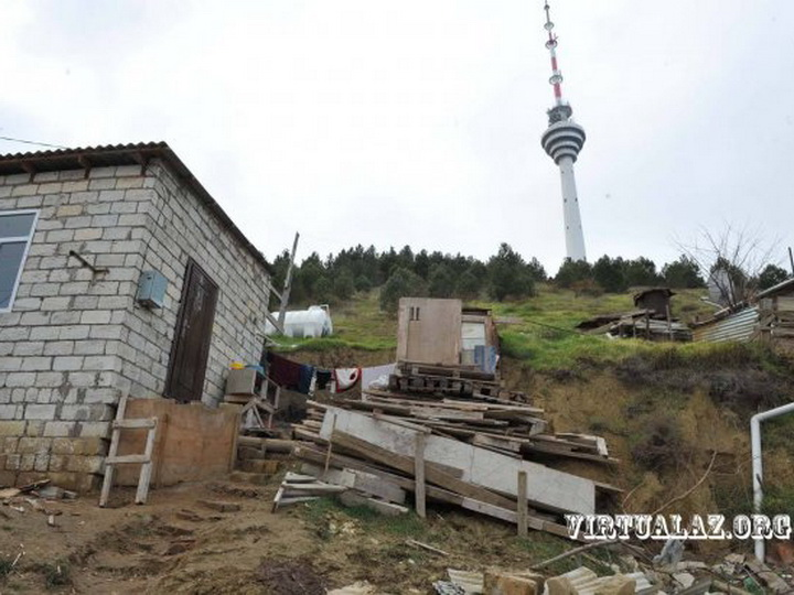 Жители оползневой зоны у бакинской телебашни переселены в убежища – ФОТО - ОБНОВЛЕНО