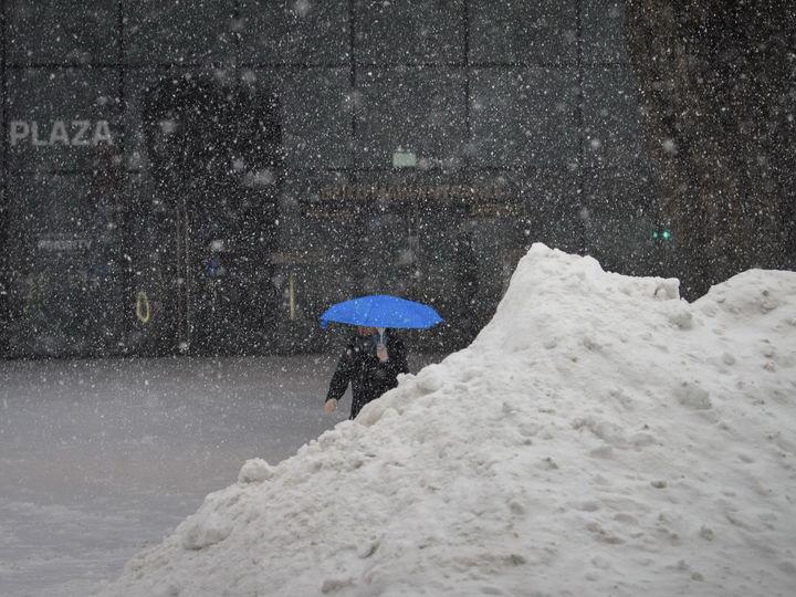 Аэропорт Нью-Йорка приостановил работу из-за снежного шторма