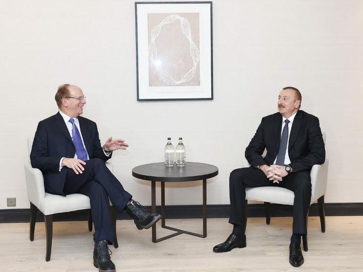 Президент Ильхам Алиев встретился с основателем фирмы Black Rock — ФОТО