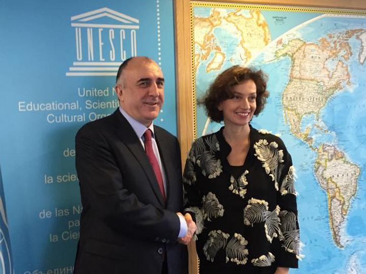 Эльмар Мамедъяров встретился с гендиректором ЮНЕСКО