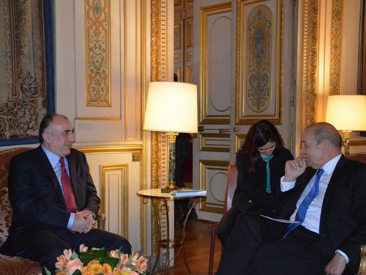 Эльмар Мамедъяров встретился с главой МИД Франции - ФОТО