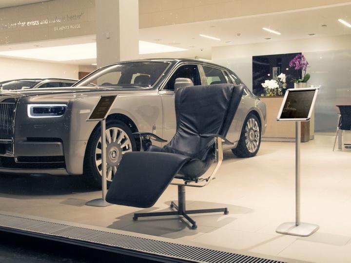 Rolls-Royce выпустил кресло c эффектом нулевой гравитации – ФОТО