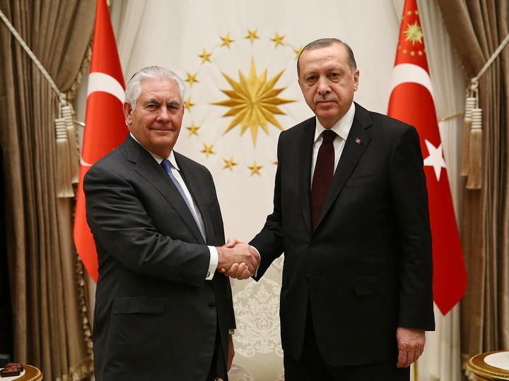 В Анкаре прошли переговоры Эрдогана и Тиллерсона - ФОТО