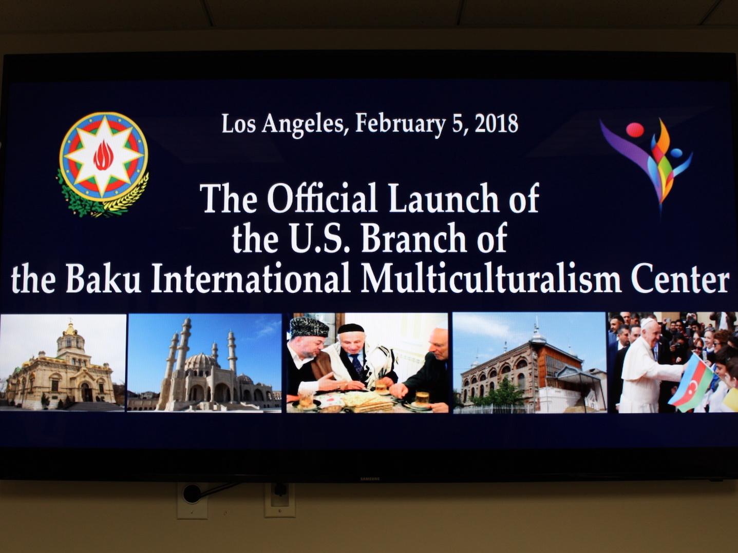 В США открылось представительство Бакинского центра мультикультурализма - ФОТО
