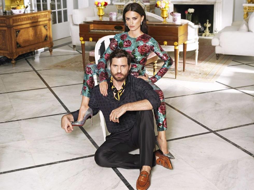 В стиле Версаче: Пенелопа Крус и Эдгар Рамирес в роскошной фотосессии для глянца — ФОТО