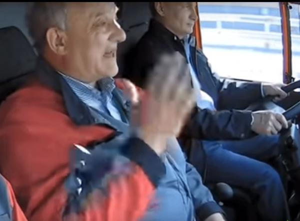 Главный строитель Крымского моста оценил способности Путина, как водителя