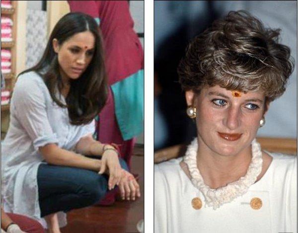 «Меган — новая Диана?»: Найдены поразительные сходства на фото Меган Маркл и принцессы Дианы