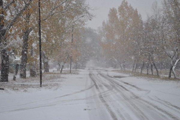 В Норильске в середине лета выпал снег