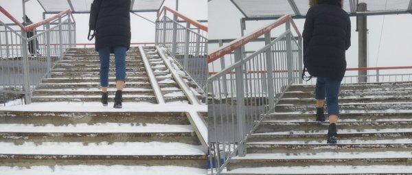 Воронежская модница с голыми ногами прошлась по городу