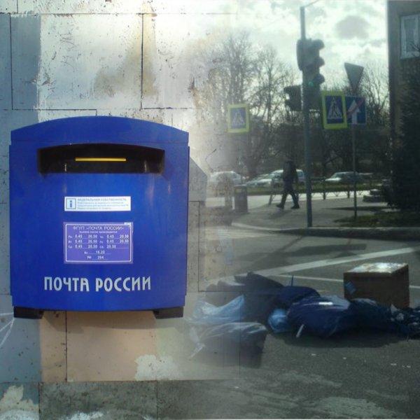 «Хоть бы не моя»:  «Почта России» в Калининграде вывалила посылки посреди проезжей части