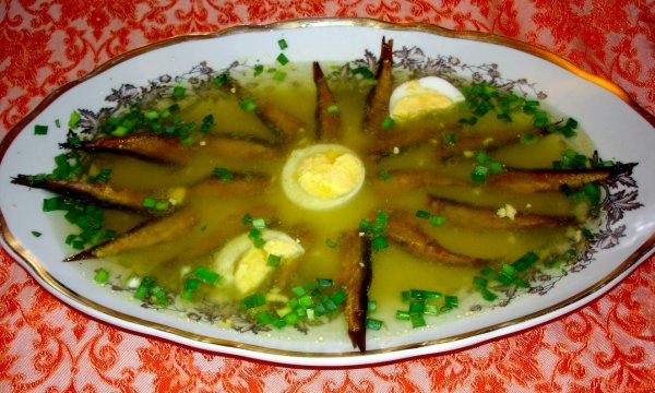 «Шпроты в желе» или заливное блюдо для лентяев