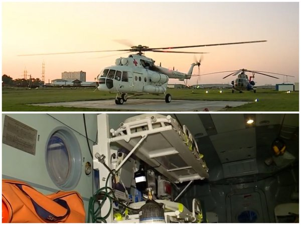 Красноярские медики получили вертолёт Ми-8