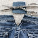 Как расширить старые джинсы
